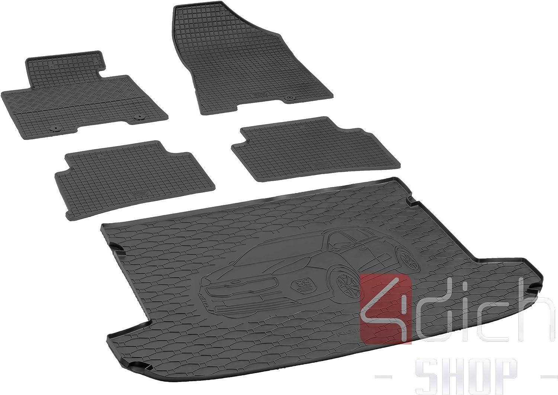 protezione per auto MONTEUR Su misura per bagagliaio e tappetini in gomma adatti per KIA Sportage dal 2016