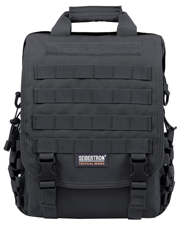 Seibertron waterproof Molle Tactical 15.6(inch) Laptop Sling BAG Backpack Black Ltd. 73812