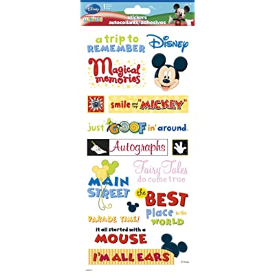 Sandy Lion Disney Themepark Phrases Clear STK 5.5x12: Toys & Games
