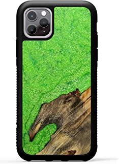 product image for Carved - Wood+Resin Case for iPhone 11 Pro 5.8 inch - One-of-A-Kind, Protective Traveler Bumper Cover (ID: 316102, Green)