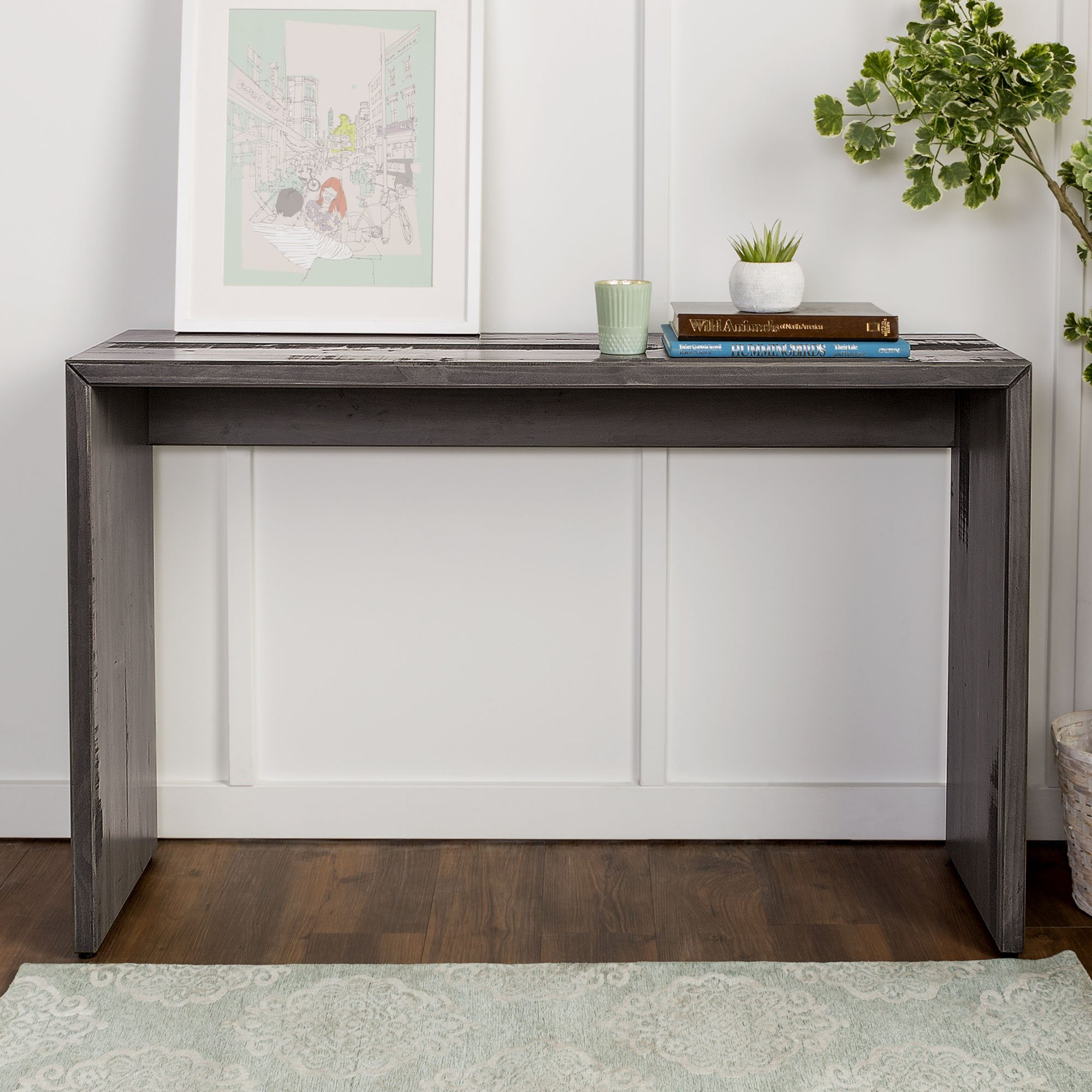 WE Furniture Reclaimed Wood Entry Table in Gray - 48'' by WE Furniture (Image #2)