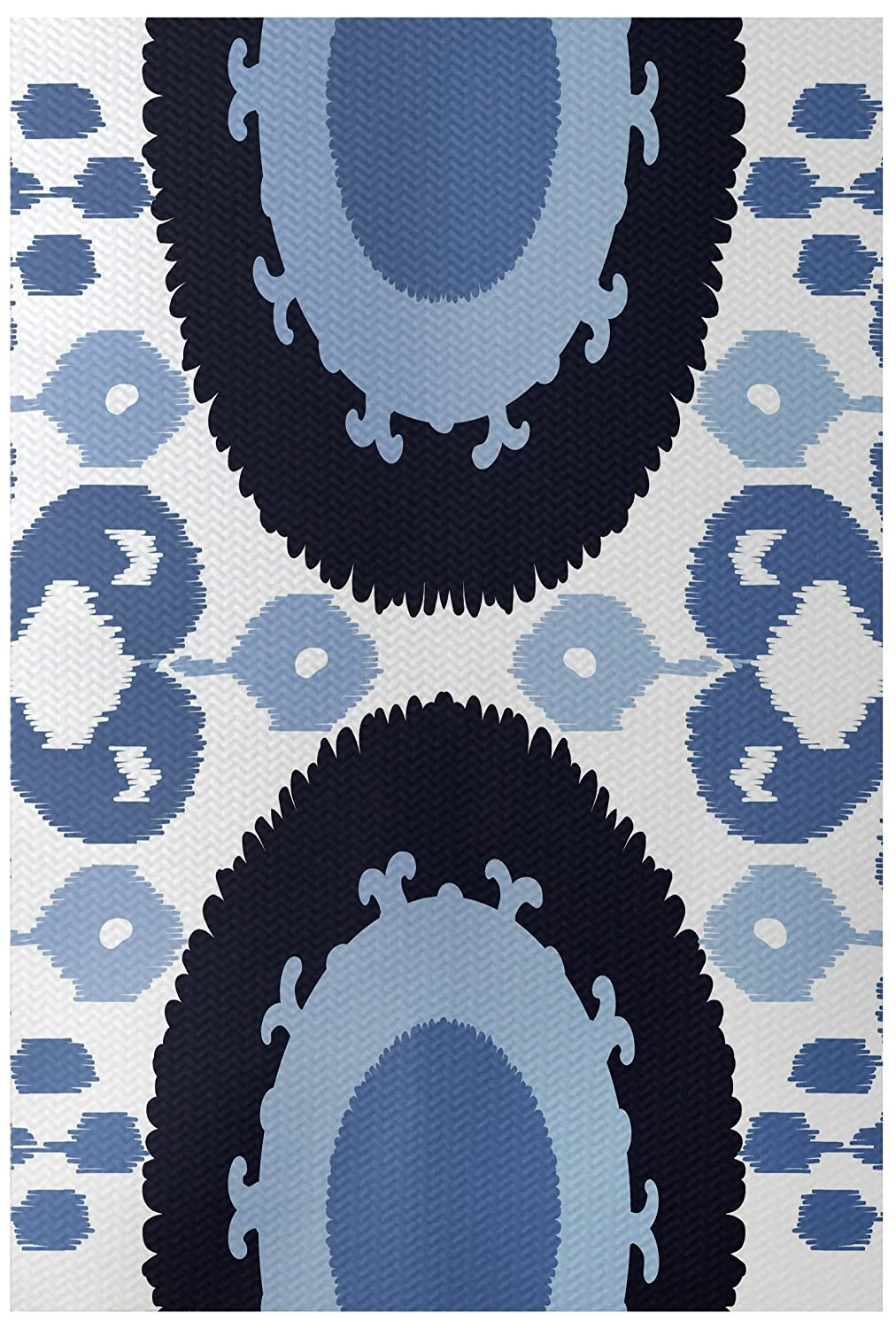 Geometric Print Indoor//Outdoor Rugvy Blue 2 x 3 E by design RGN546BL14BL15-23 Boho