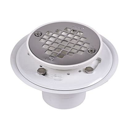 Merveilleux Oatey 42213 PVC Drain With Stainless Steel Strainer For Tile Shower Bases,  2 Inch