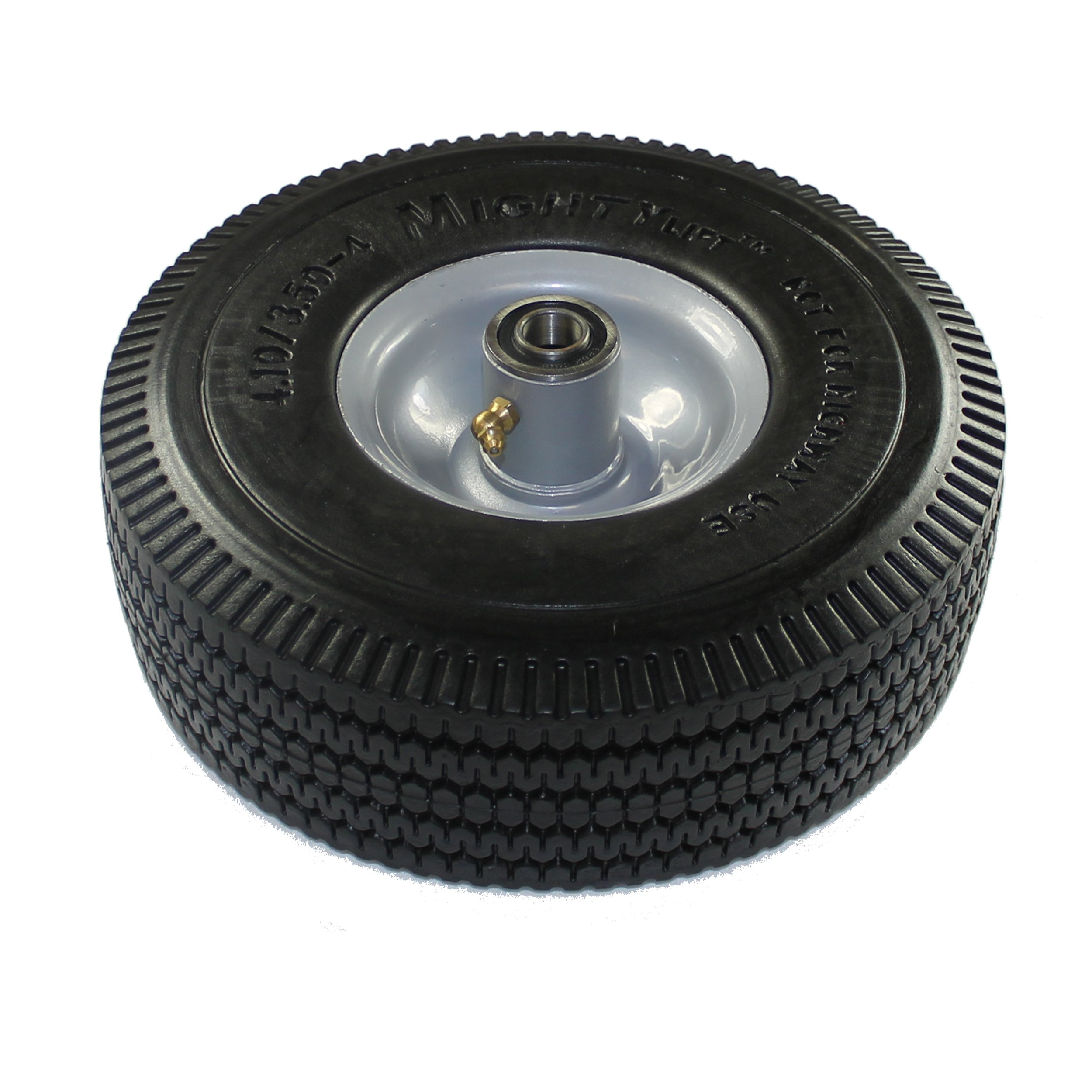 Mighty Lift W-1035-AFO-58P-2 10'' Diameter x 3.5'' Width Polyurethane Wheel, Flat Free Tires, 375 lb Capacity