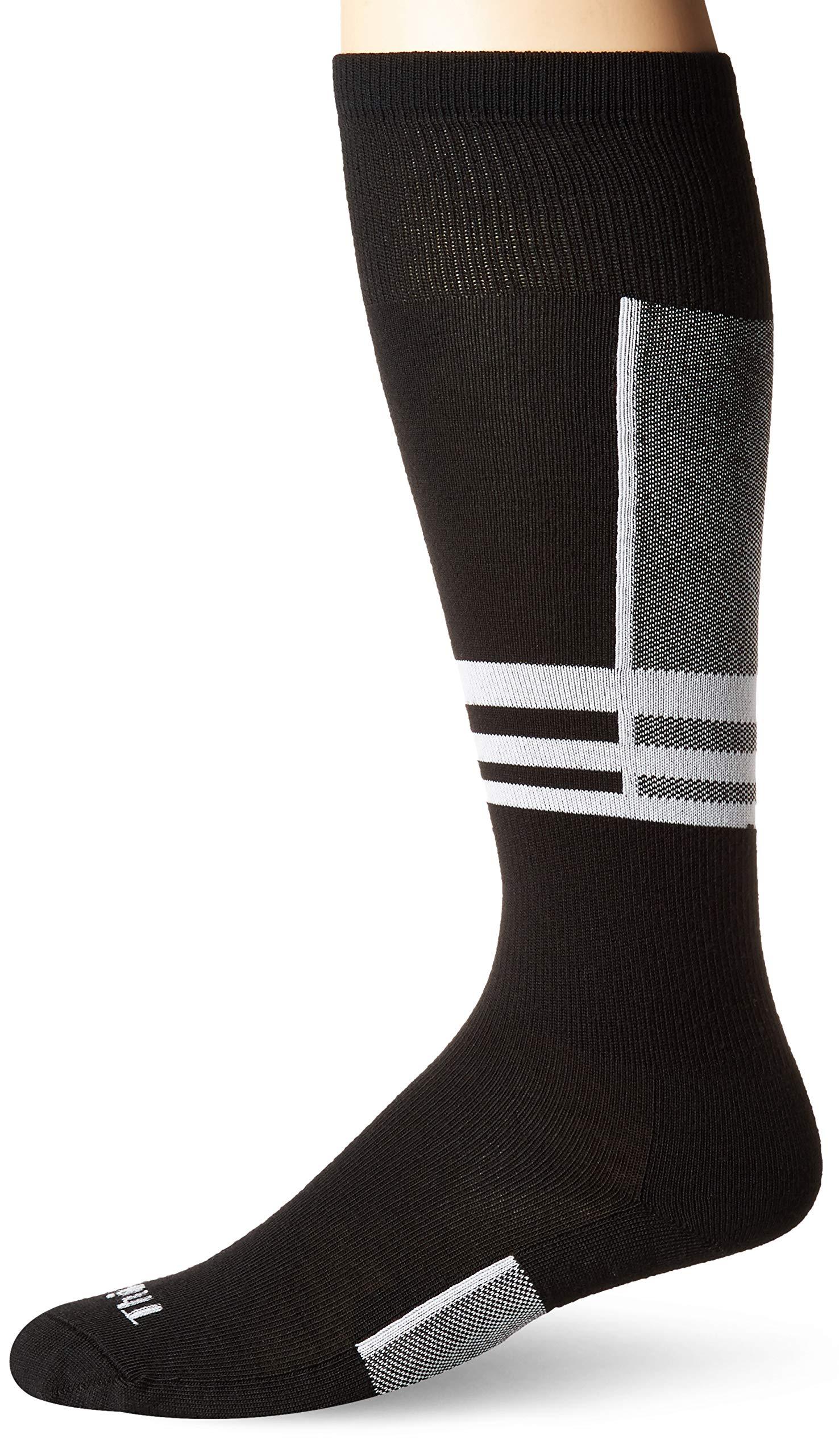 Thorlos Men's Ultra Thin Skiing Over-The-Calf Socks, Powder White, Large by thorlos
