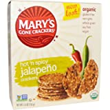 Mary's Gone Crackers, Organic, Hot 'n Spicy Jalapeno Crackers, 5.5 oz (156 g) Mary's Gone Crackers, Organic, Hot 'n Spicy Jalapeno Crackers, 5.5 oz (156 g) - 2pcs