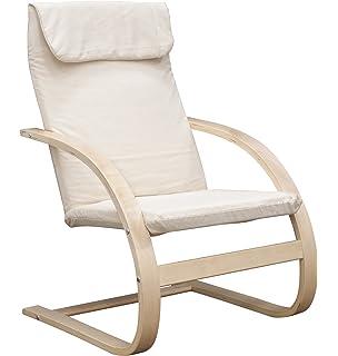 Niche Mia Reclining Bentwood Chair,Natural/Beige