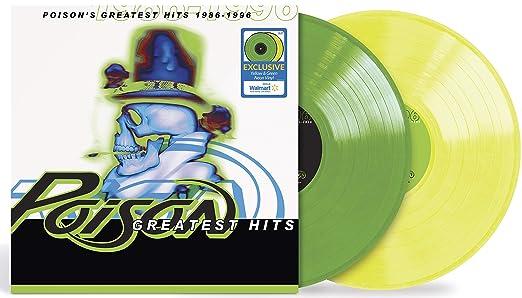 Poison - Poison's Greatest Hits 1986-1996 (Yellow & Green Neon 2X Vinyl) LP Record
