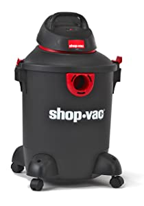 Shop-Vac 5985200 10 gallon 4.0 Peak HP Classic Wet Dry Vacuum, Black/Red