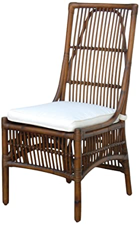 Panama Jack Sunrooms PJS-2001-ATQ-SC Bora Bora Side Chair with Cushion, Rave Brick
