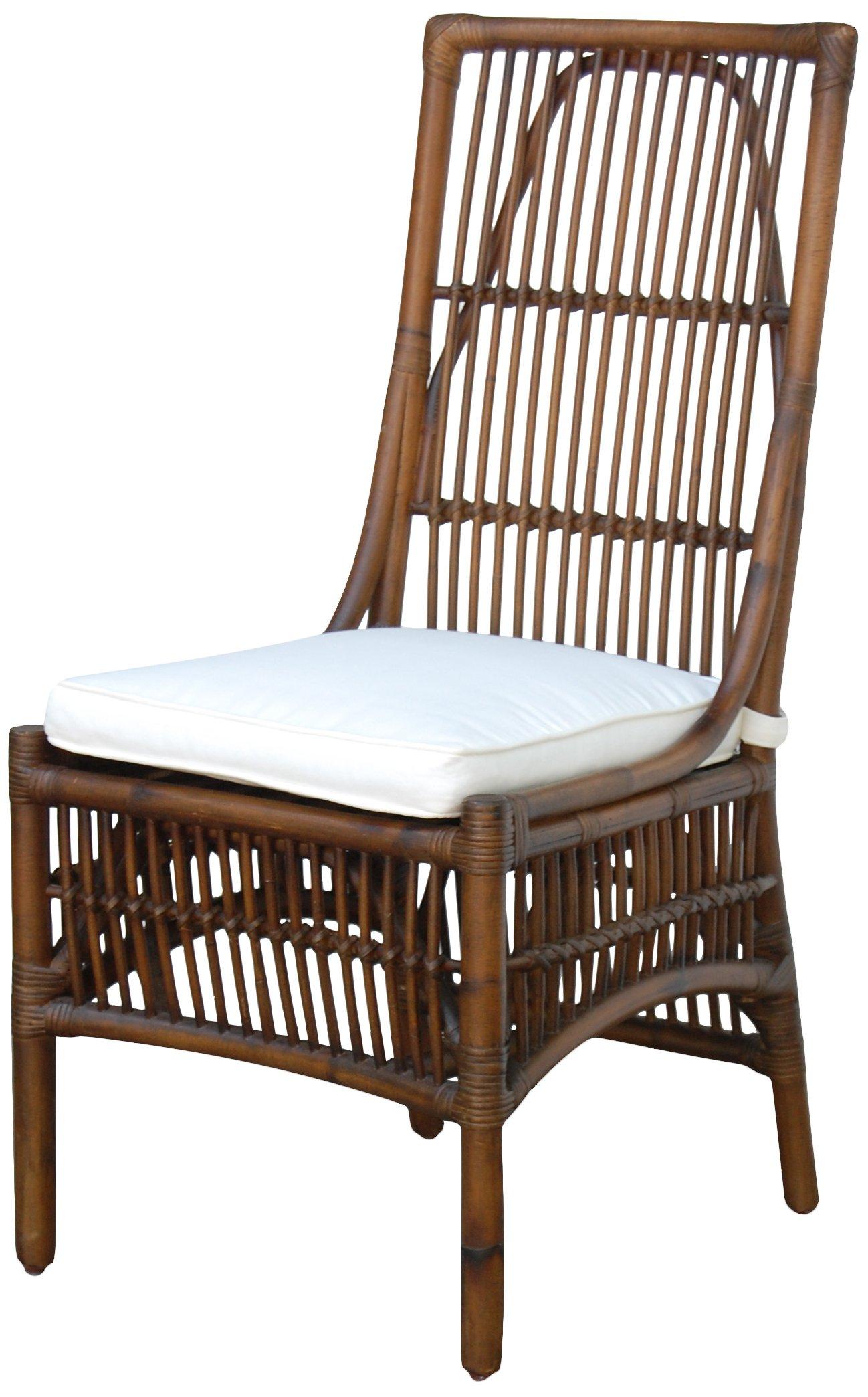 Panama Jack Sunrooms PJS-2001-ATQ-SC Bora Bora Side Chair with Cushion, Sunbrella Canvas Spa