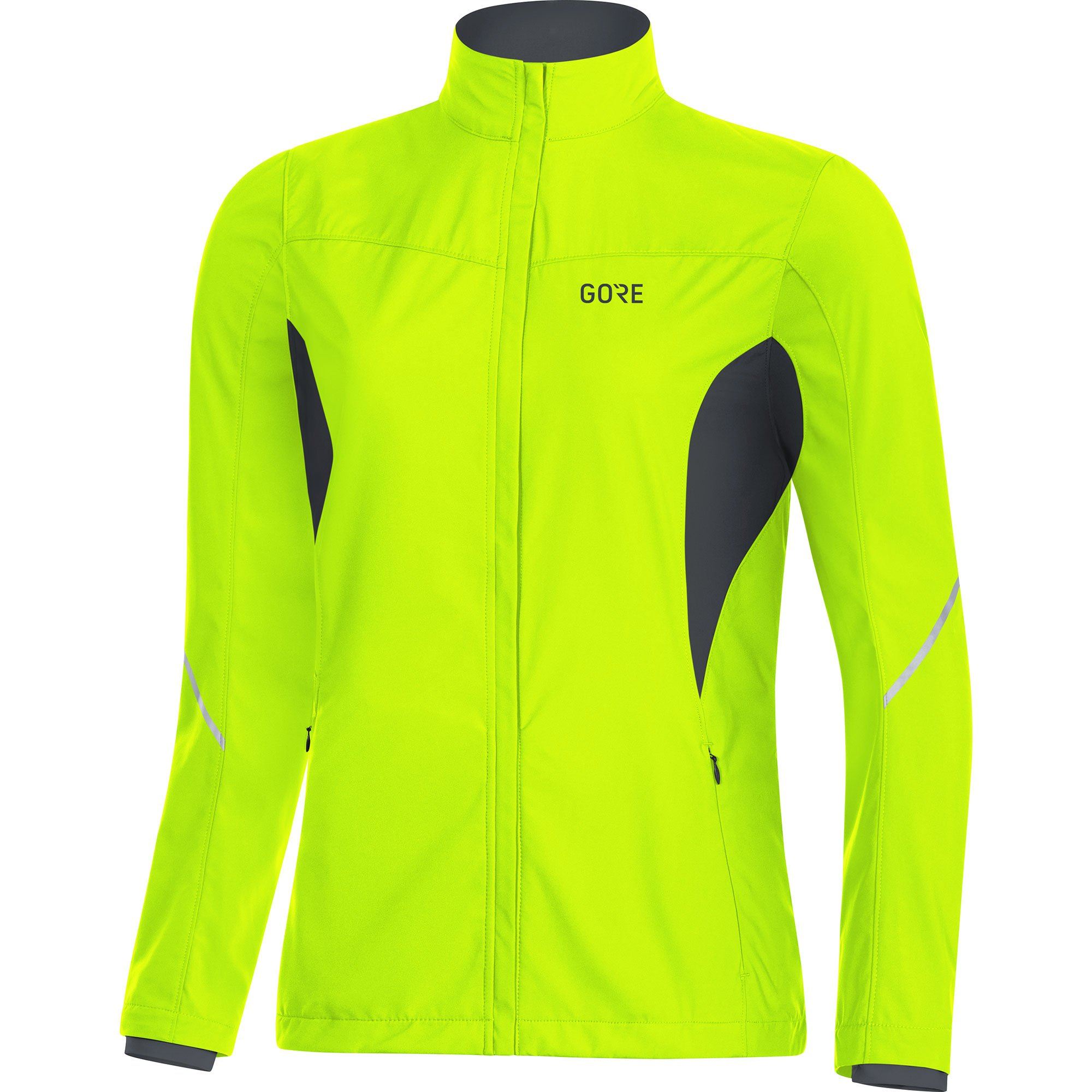 Gore Women's R3 Wmn Partial Gws Jacket, neon Yellow/Black, M by GORE WEAR (Image #1)