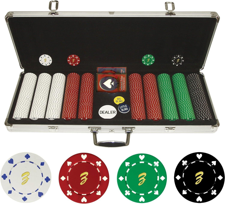Trademark Poker - 500 fichas Personalizadas de 11,5 Gramos, en Estuche, 10-1080-5001S-ZS: Amazon.es: Deportes y aire libre
