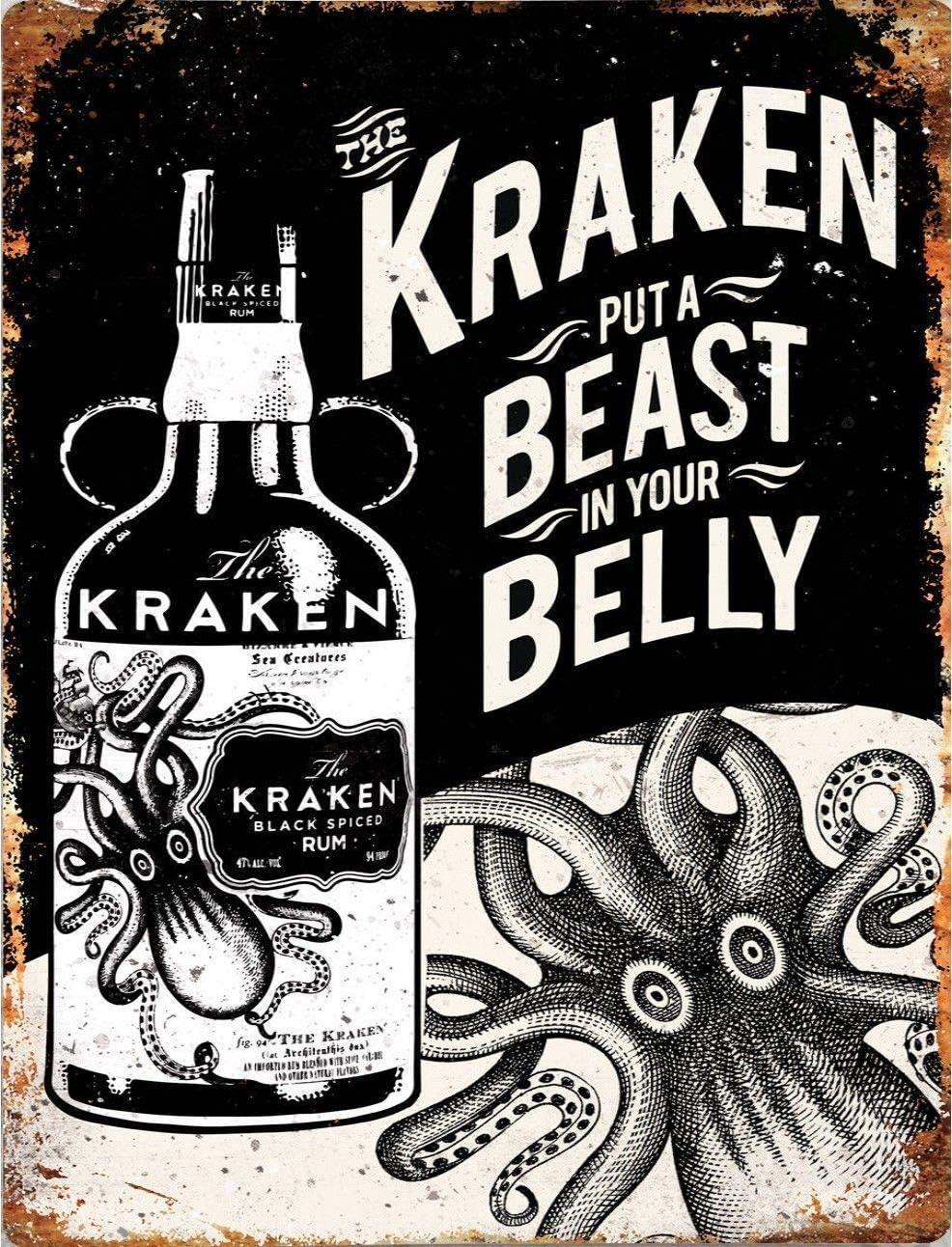 Signshm Top Banana Gifts Kraken Rum Beast In The Belly Placa ...