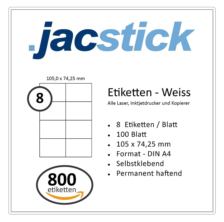 105x74 Größe 10 Blatt DIN A4 80 Etiketten