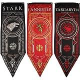Game of Thrones House Banner 3pk, House Stark, Targaryen, Lannister