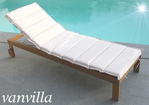 Gartenliege holz mit auflage  Amazon.de: vanvilla Sonnenliege Gartenliege Holz Relaxliege ...