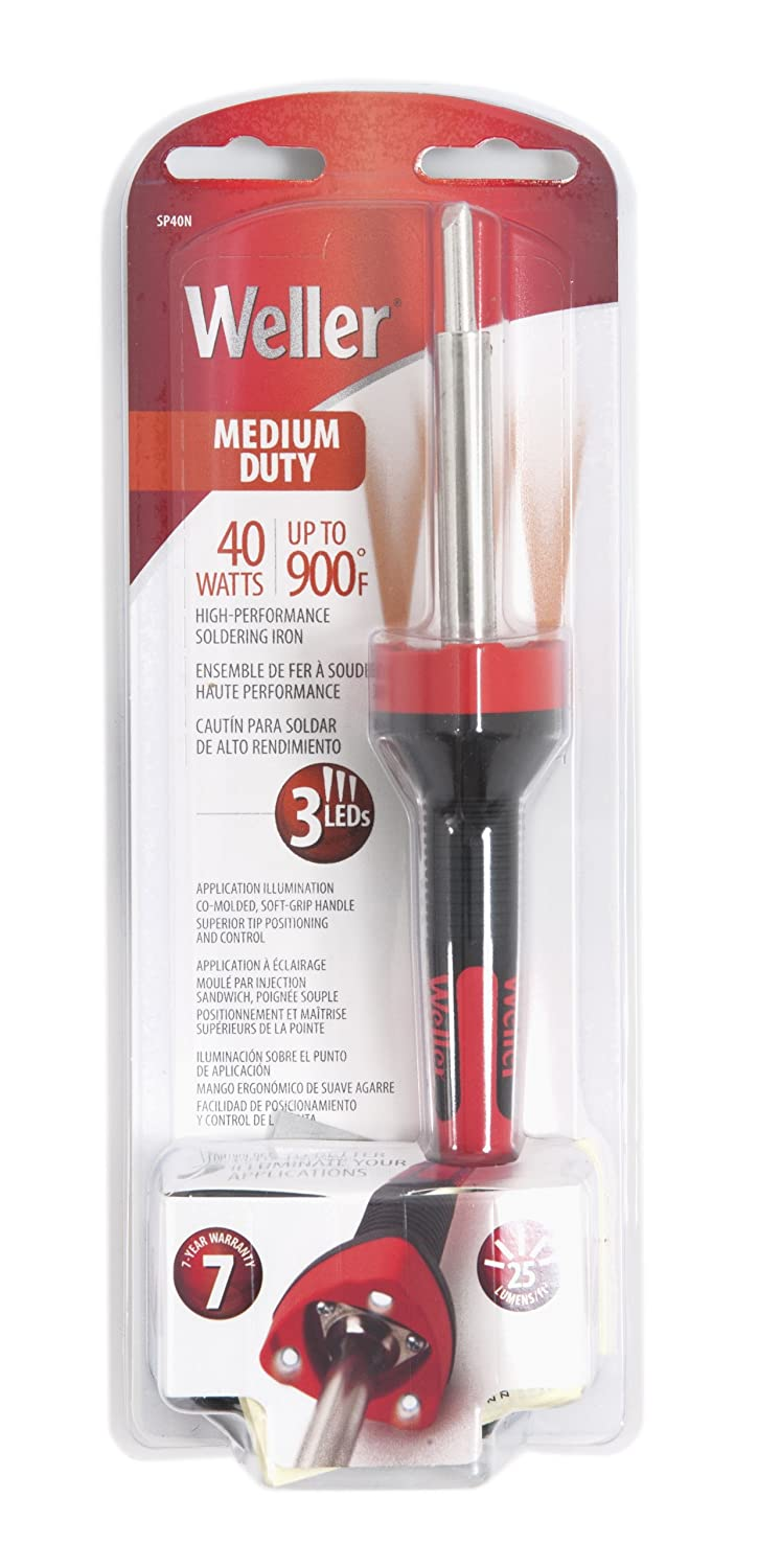 Amazon.com: Weller SP40NCN Medium Duty LED Soldering Iron, Red/Black: Home Improvement