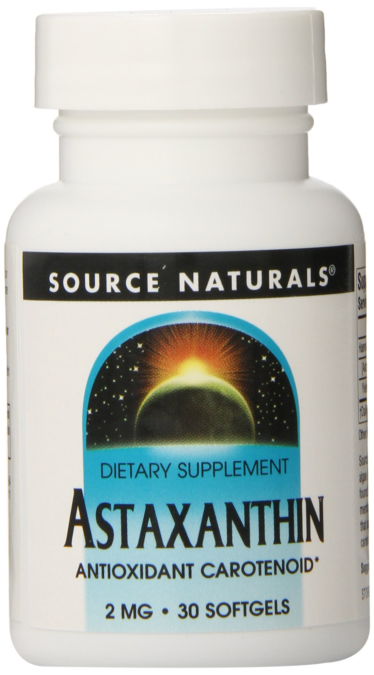 Source Naturals Astaxanthin 2mg, 30 Softgels(Pack of 12)