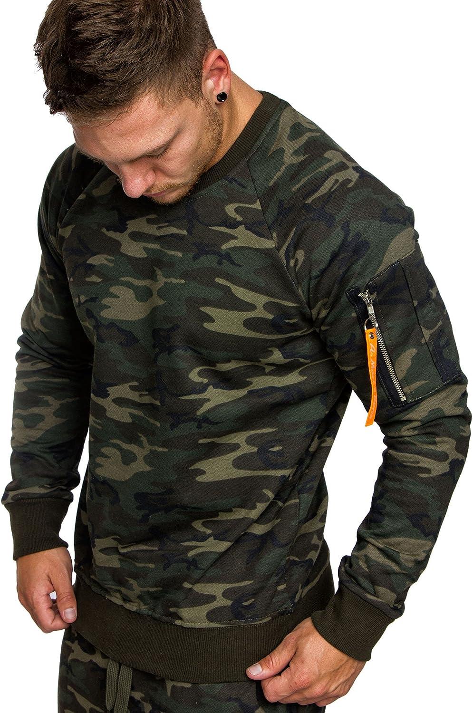 Herren Kapuzenpullover Sweatshirt Pullover Camouflage Basic Pulli Hoodie Tops HJ