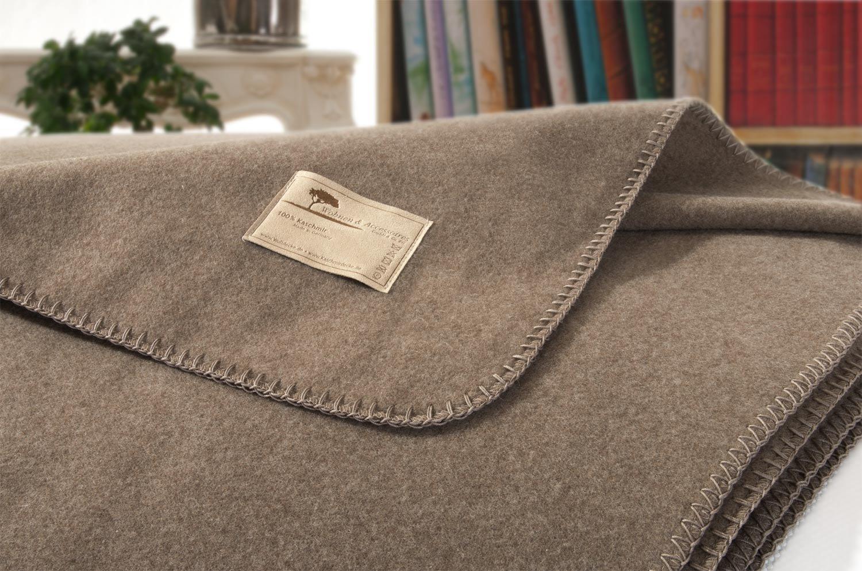 Kaschmirdecke, Wolldecke aus 100% Kaschmir Amalfi mongolgrau 150x220cm Kettsti