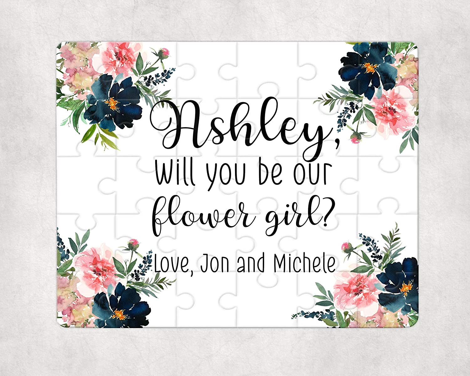 Will You Be Our Flower Girl Proposal Gift Personalized Puzzle