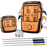 ThermoPro TP27 500FT Long Range Wireless Meat Thermometer for Grilling and Smoking with 4 Probes Smoker BBQ Grill Thermometer