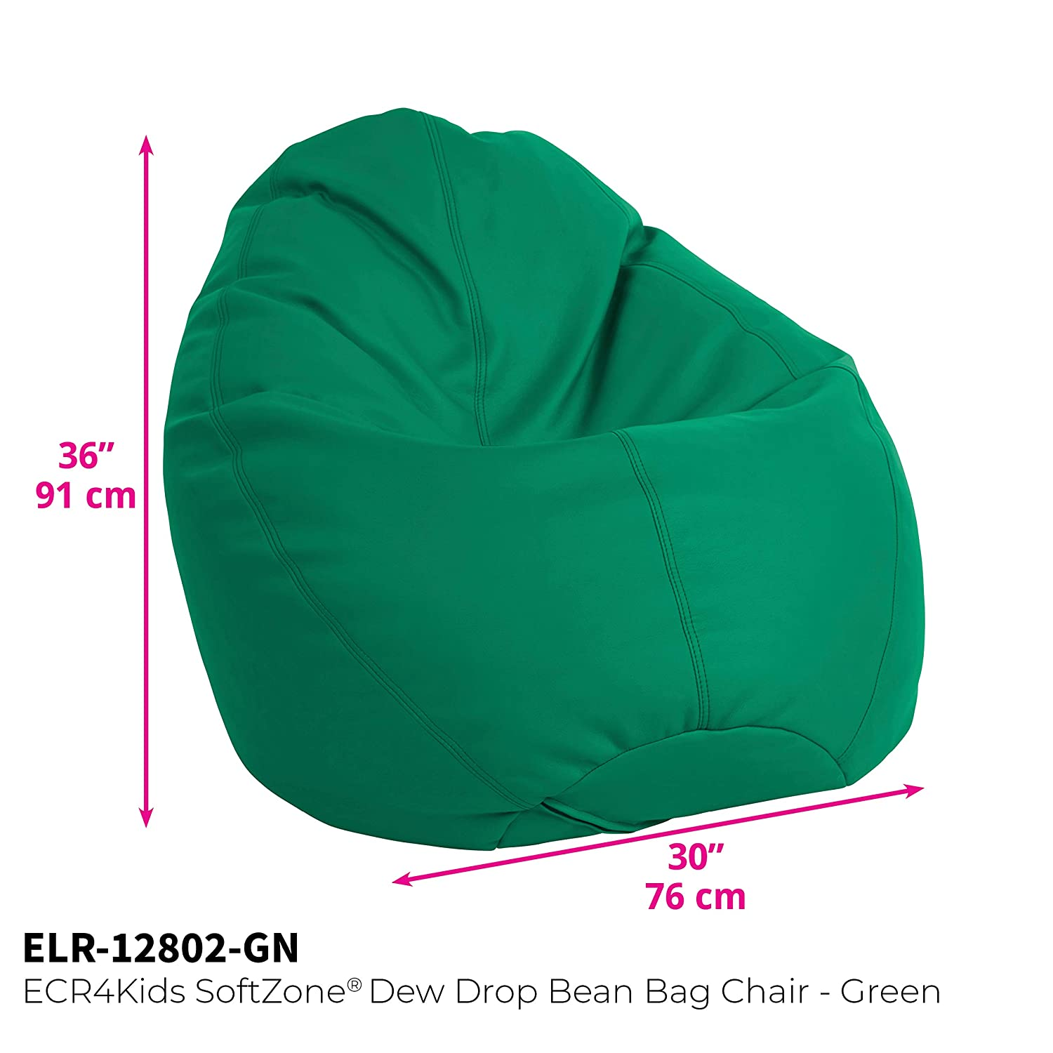 Remarkable Ecr4Kids Dew Drop Bean Bag Chair Green Andrewgaddart Wooden Chair Designs For Living Room Andrewgaddartcom