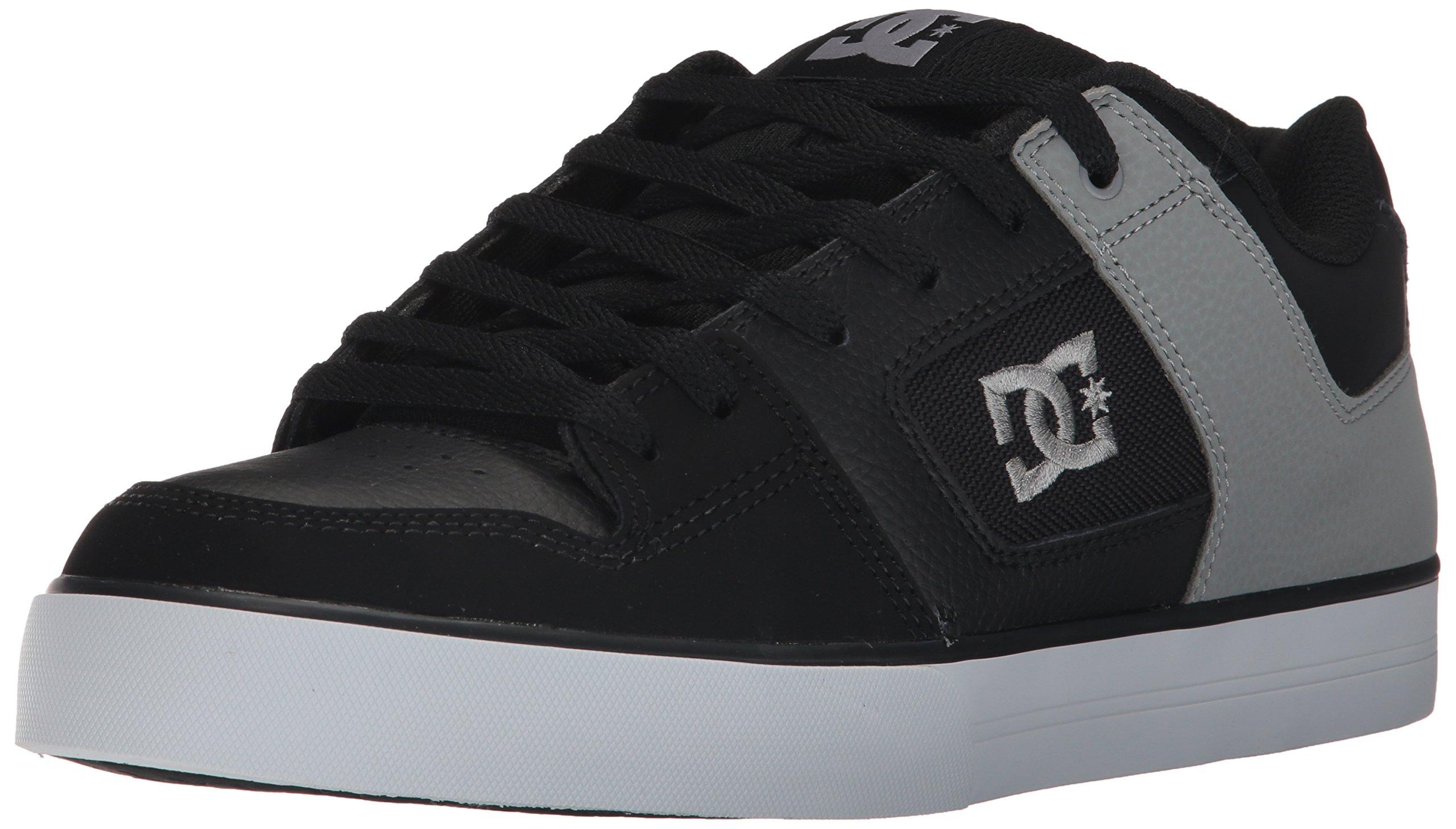 DC Shoes Mens Shoes Pure - Shoes - Men - 6 - Black Black/Black/Grey 6