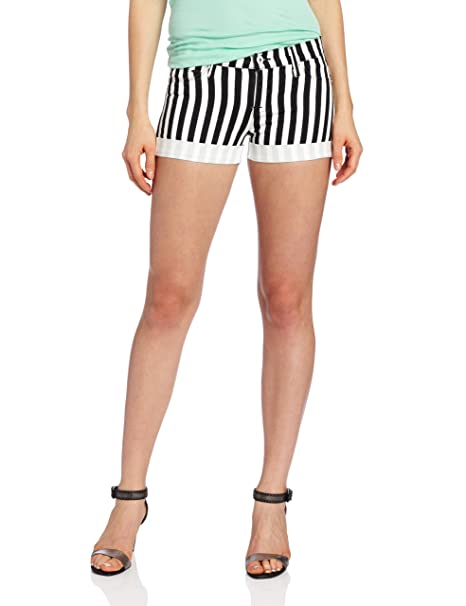 Amazon.com: Hudson Jeans de la mujer Nina Stripe Short: Clothing