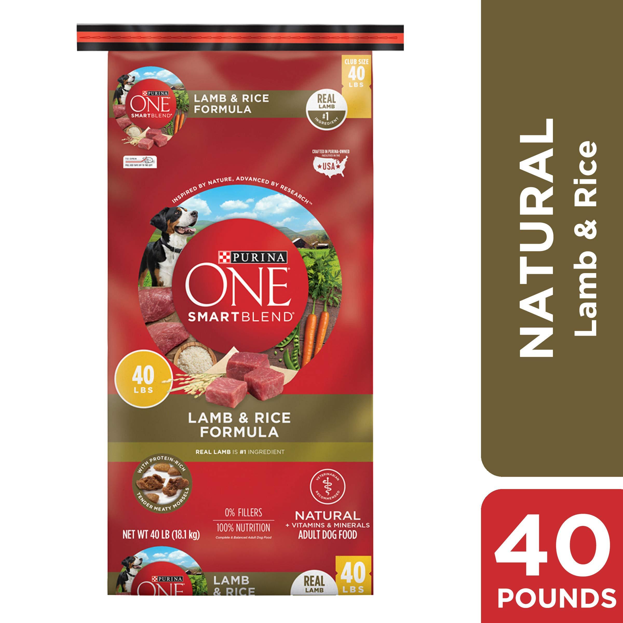 Purina ONE Natural Dry Dog Food, SmartBlend Lamb & Rice Formula - 40 lb. Bag by Purina ONE