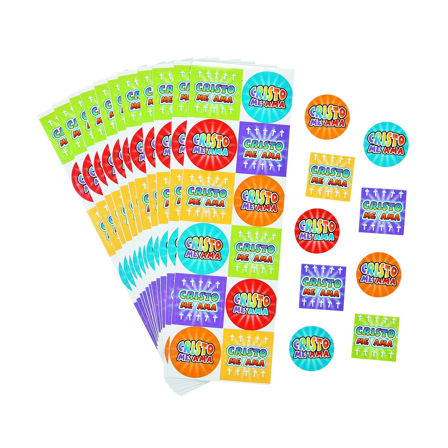 Amazon.com: Spanish Jesus Loves Me Stickers: Toys & Games