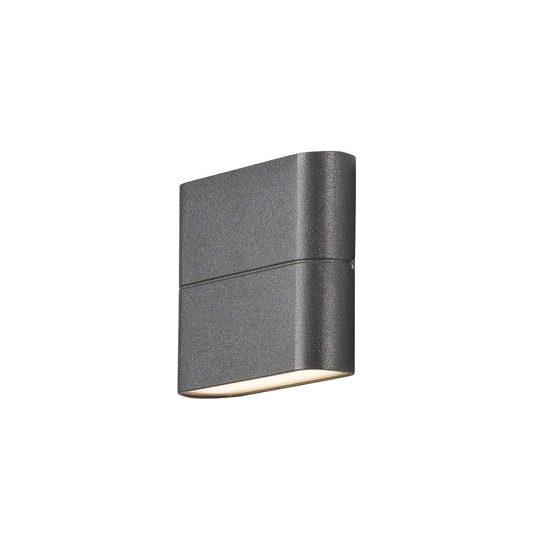 Konstsmide Up- Down Außenwandleuchte CHIERI, Aluminium anthrazit, 6 Watt-LED, 450 Lumen, 7972-370