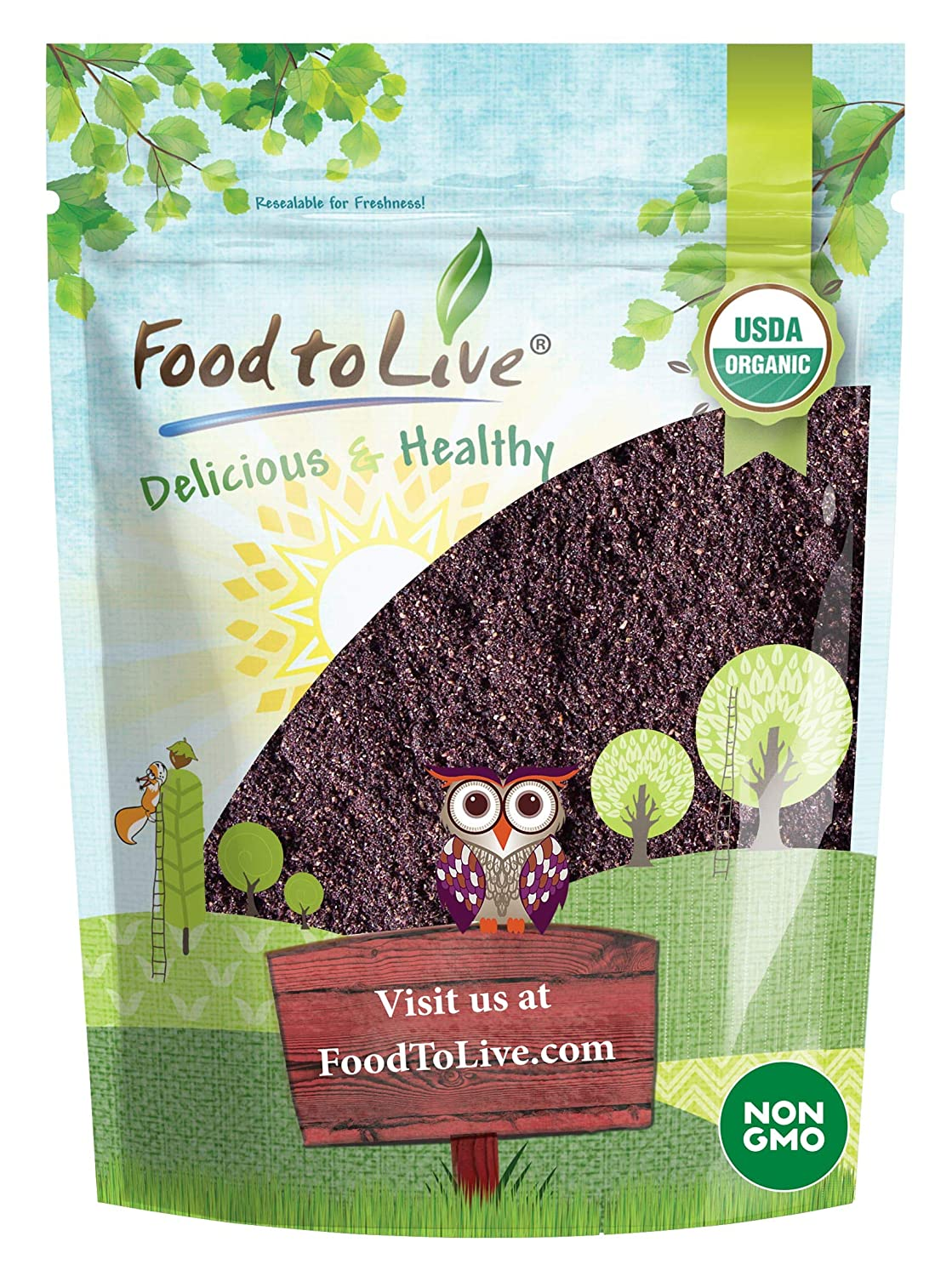 Organic Maqui Berry Powder, 1 Pound — Non-GMO, Raw, 100% Pure, Vegan Superfood, No Added Sugar, Bulk, Rich in Iron, Fiber and Antioxidant, Great for Juices, Drinks, and Smoothies.
