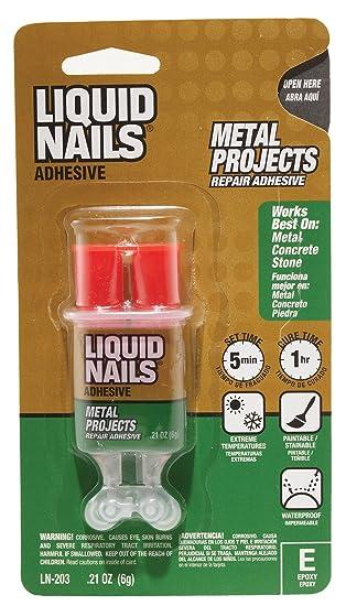 Liquid Nails LN203 Liquid Nail Metal Repair Adhesive