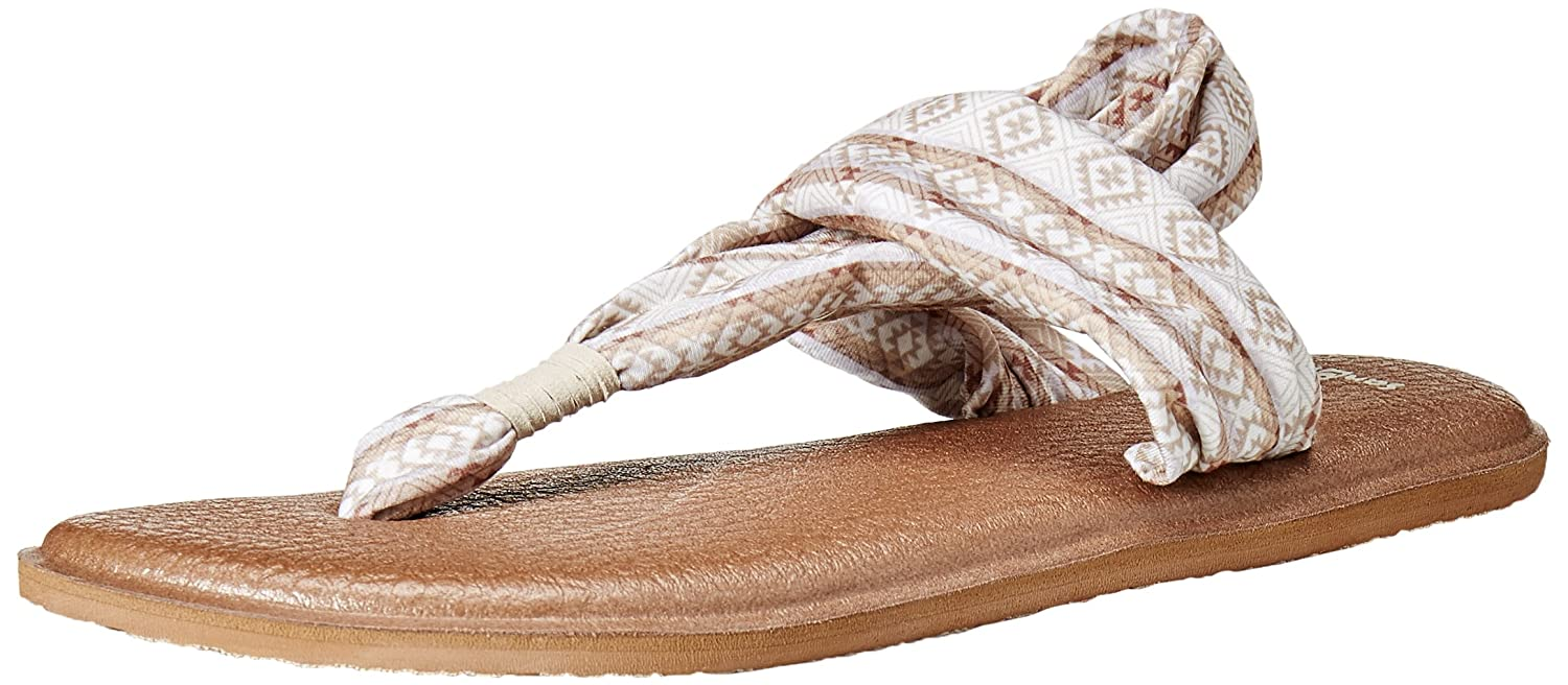 Sanuk Women's Yoga Sling 2 B00YTE4F2W 7 B(M) US|Natural / Multi Tribal Stripe