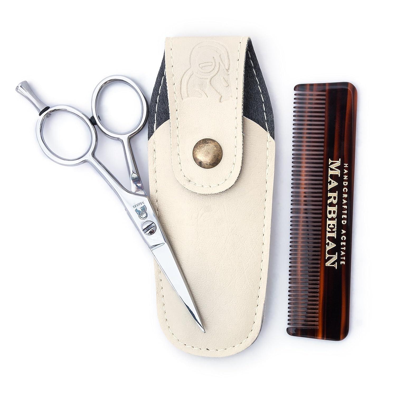 barba e baffi forbici pettine di alta qualità con precisione per peli facciali rifilatura–per il tuo dell' ora. Marbeian