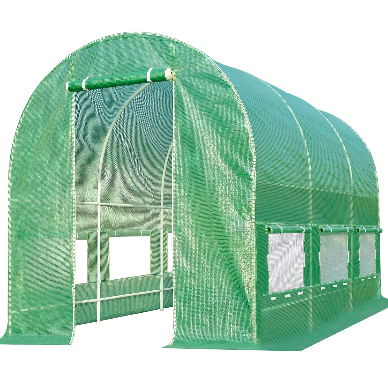 Quictent Portable Greenhouse Large Green Garden Hot House Grow Tent More Size (12' X 7' X 7') by Quictent