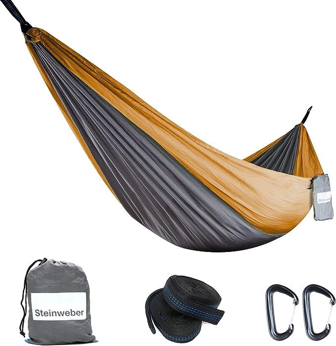 Outdoor Hängematte Ultraleicht Camping Hängematte für 2 Personen Liege bis 300kg