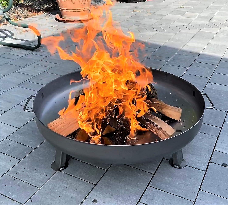 Czaja Stanzteile Feuerschale /Ø80 cm mit Wasserablaufbohrung f/ür Garten und Terrasse