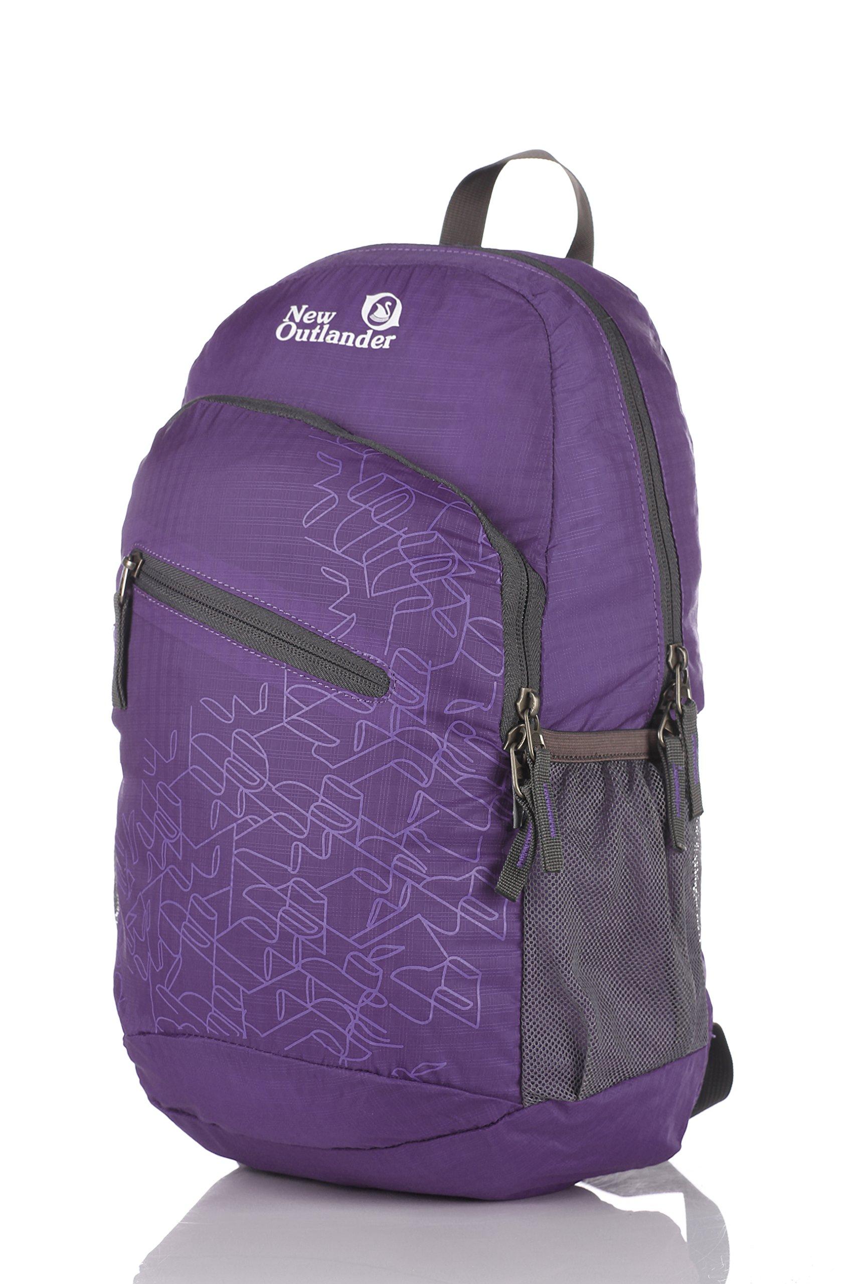 Outlander Packable Handy Lightweight Travel Hiking Backpack Daypack-Purple-L by Outlander (Image #2)