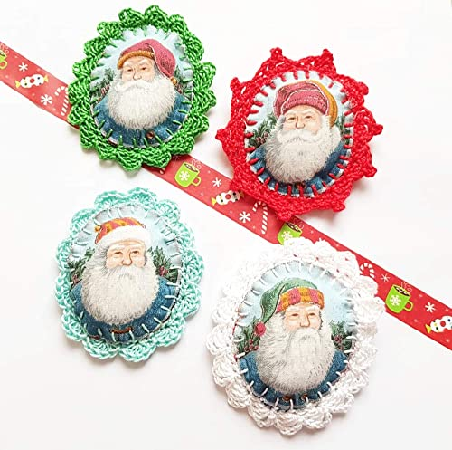 Broche Pere Noel Retro Saint Nicolas Kitsch Cadeau Secret