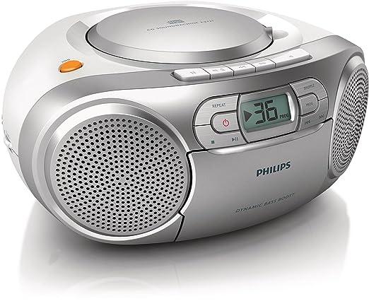 6 opinioni per Philips CD Soundmachine AZ127/12- CD players (stereo, 2 W, Dynamic Bass Boost,