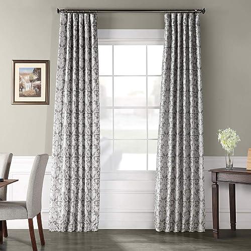 HPD Half Price Drapes PTPCH-170806B-96 Printed Faux Silk Taffeta Blackout Curtain 1 Panel
