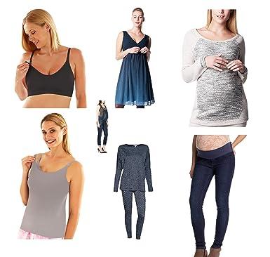 782be7de36c916 Damen Umstandsmode Paket Umstandshose Umstandskleid Shirt Top Leggings Hose  Kleid Overalls  Amazon.de  Bekleidung
