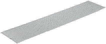 Unitec 84498 - Rejillas de aluminio para radiador de coche, color plateado