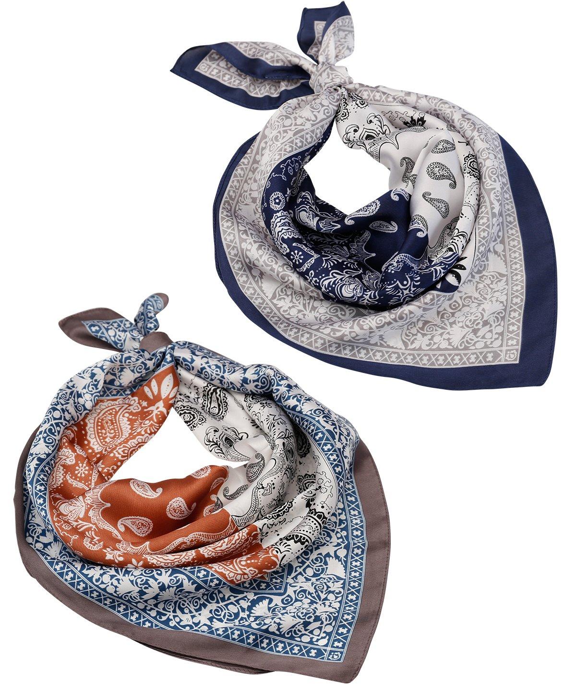 Satin Silk Head Hair Scarf – Women Square Neckerchief Hair Wrap Headwrap Headscarf