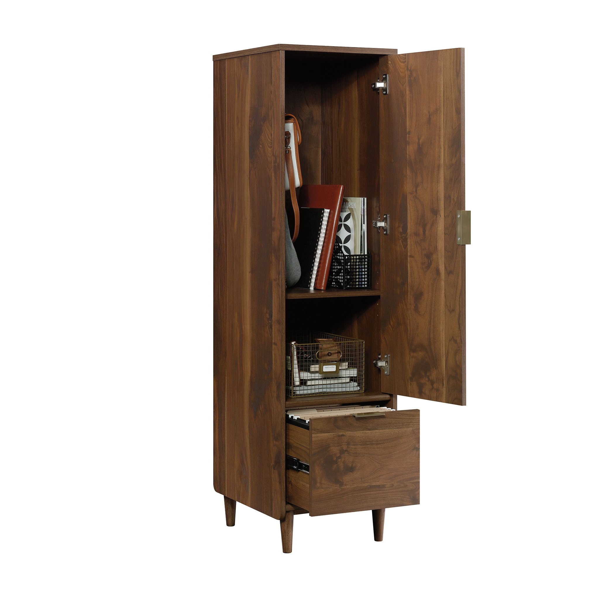 Sauder 421318 Clifford Place Storage Cabinet with File, L: 15.51'' x W: 18.50'' x H: 58.27'', Grand Walnut Finish by Sauder (Image #11)