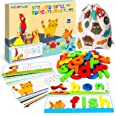 SpringFlower See & Spell Matching Letter Toy,Learning Educational Toy For 3 4 5 6 Years Old Boys And Girls,Preschool Learning