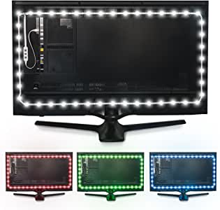 Luminoodle Color Bias Lighting, TV Backlight, Home Theater Ambient Light Kit - USB LED Strip with Remote (XX - Large (16.4 ft))